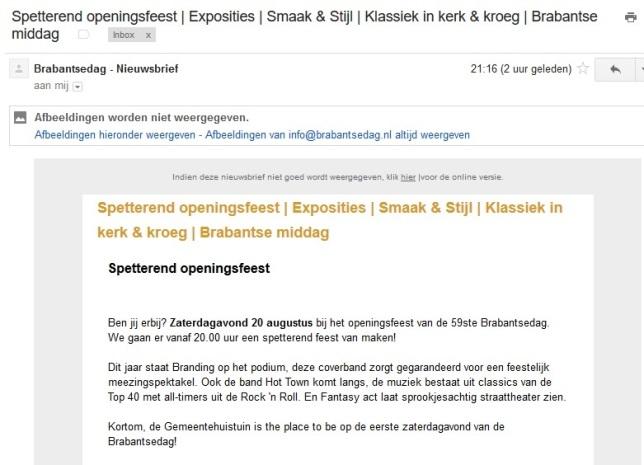 Brabantsedag Nieuwsbrieven